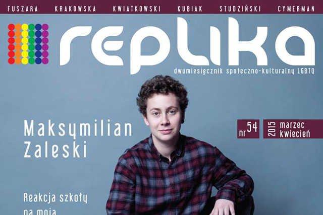 Okładka najnowszego numeru magazynu Replika