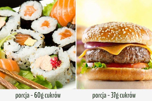 Jeśli ograniczasz cukry, wybierz burgera.