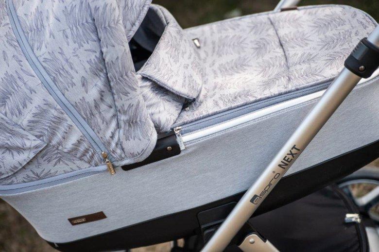 Lekka i obszerna gondola w wózku Espiro Next Avenue może posłużyć jako drugie łóżeczko dla dziecka