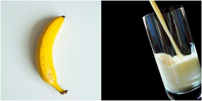 Jedno ze szkodliwych połączeń - banan i mleko