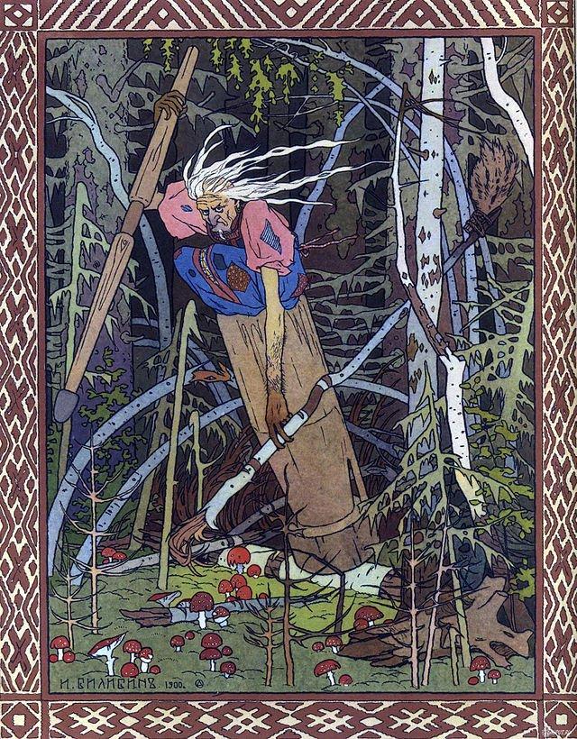 Baba Jaga straszyła dzieci nie tylko w okolicy Łysej Góry, gdzie odbywały się Zloty Czarownic.