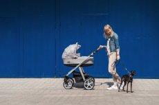 Espiro Next Avenue to wózek 3w1, który łączy w sobie funkcje wózka głębokiego, spacerówki ze stopniowaną regulacją kąta nachylenia oparcia oraz wyjmowanego nosidełka.
