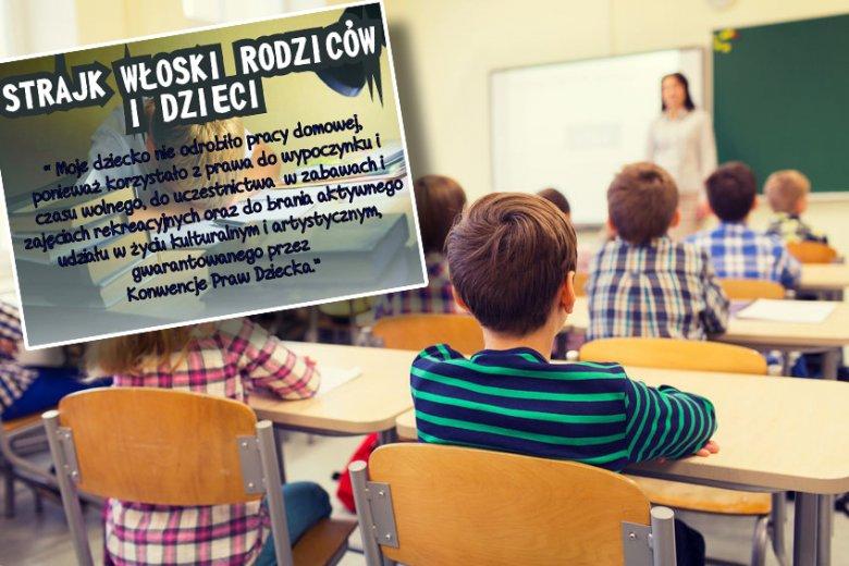Strajk włoski rodziców i dzieci