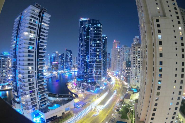 Dubaj - widok z okna w mieszkaniu Sylwii Przeplaty