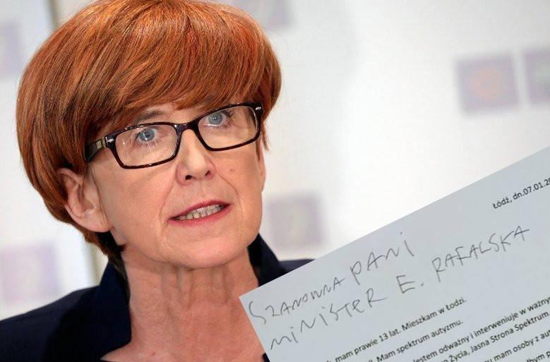 13-latek napisał list do minister Rafalskiej
