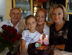 Martyna Wojciechowska z córką, Marysią i swoimi rodzicami