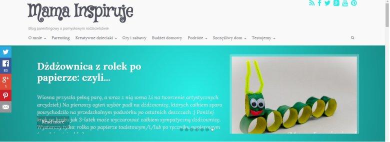 Fot. Screen ze strony [url=http://mamainspiruje.pl/]Mama Inspiruje[/url]