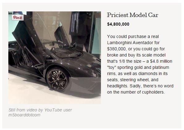 Lamborghini dla dzieci - ponad 10x droższe od oryginału dla dorosłych