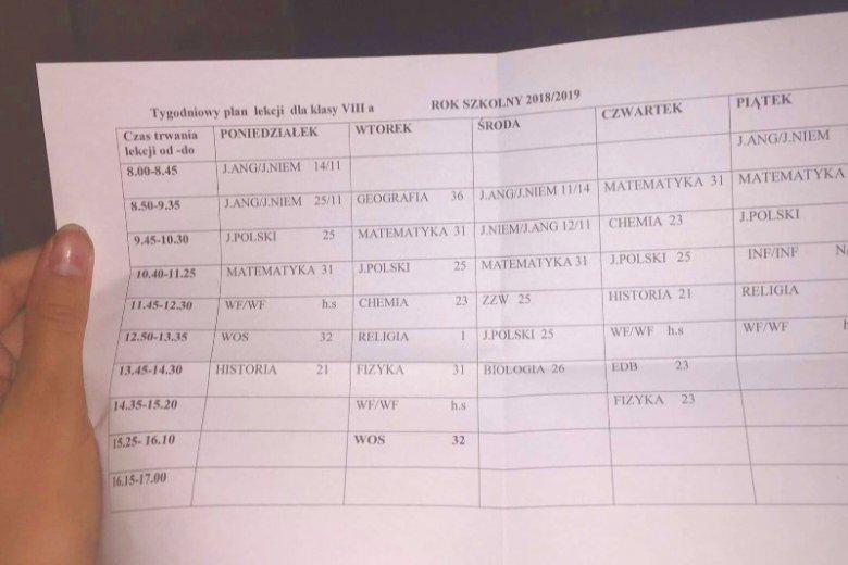 Modish Ile lekcji ma dziecko w 8. klasie? [lista zajęć] | MamaDu.pl QN18