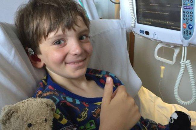 Chłopiec chory na raka