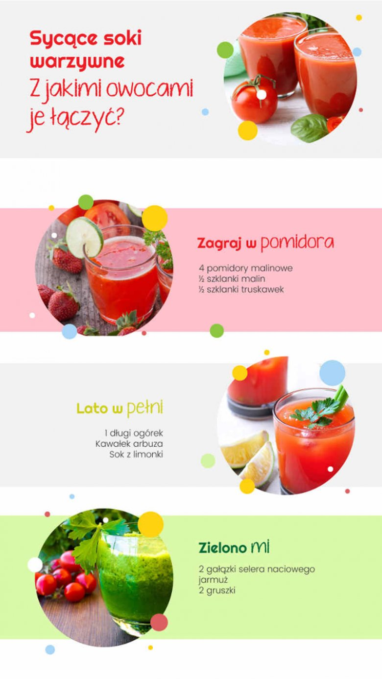 Soki dla dzieci warzywno-owocowe