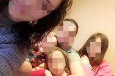 Anna W. z córkami: Dominiką, Sarą, Eweliną i Patrycją. Mąż jest obecnie na wyjeździe