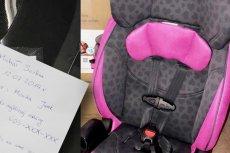 Kartka może pomóc policji zająć się dzieckiem po wypadku.