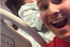 Zdjęcie robione w czasie porodu.