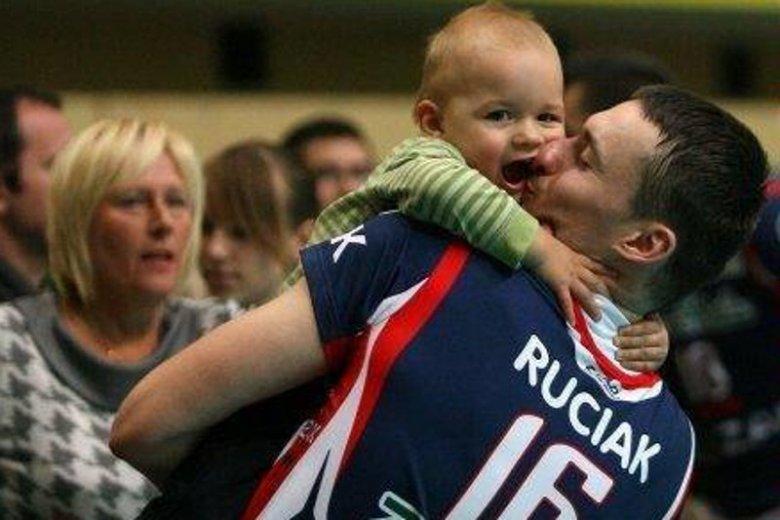 Michał Ruciak z synem