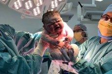 Dziewczynka w chwili narodzin ważyła ponad 6 kg.