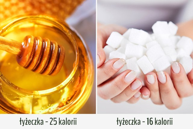 Miód zawiera więcej kalorii niż cukier.
