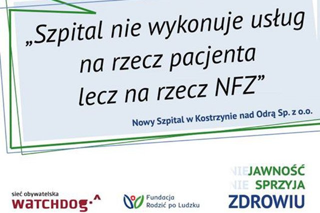Szpitale nie chcą współpracować i ujawniać informacji.