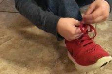 Nauka wiązania butów, wcale nie musi być trudna.