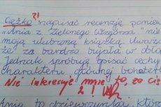 Uczennica napisała charakterystykę, a nie recenzję i dostała złą ocenę. Czy sprawiedliwie?