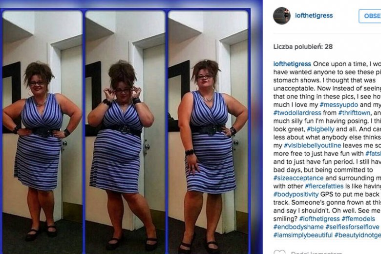 Autorka tego profilu wyznaje, że dopiero jak zaakceptowała VBO, zaczęła cieszyć się z tego jak wygląda i bawić się modą