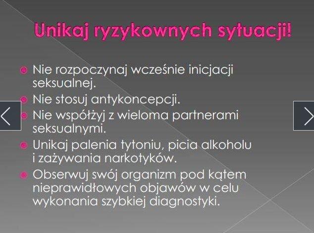 Jeden z pierwszych slajdów uczniowskiej prezentacji