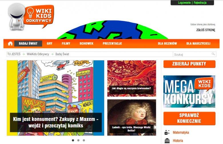 Serwis Wikikids.pl pozwala dzieciom na bezpieczną eksploatację internetowych zasobów wiedzy.
