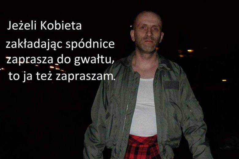 """Zdjęcie ojca w ramach akcji """"Razem przeciw kulturze gwałtu""""."""