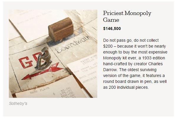 Monopoly za 146 tysięcy dolarów