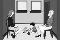 Która z kobiet na ilustracji jest matką dziecka?
