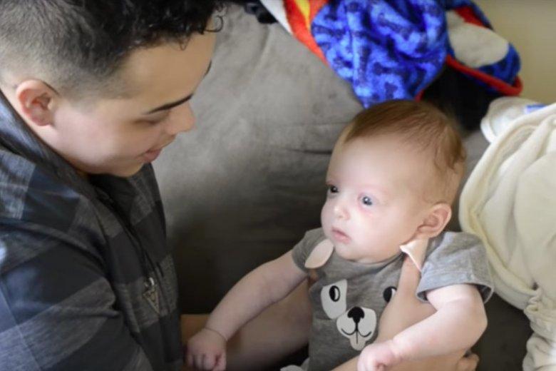 Tanner z córeczką