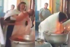 Prawosławny ksiądz brutalnie potraktował dziecko podczas chrztu