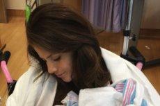 Weronika Rosati z córką.