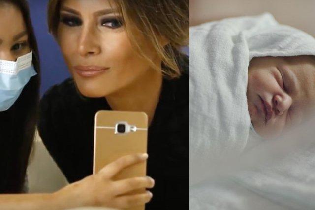 Pierwsza dama odwiedza szpitale na całym świecie.