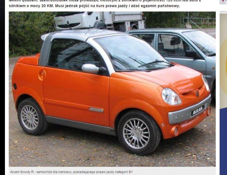 Samochód dla posiadaczy prawa jazdy B1