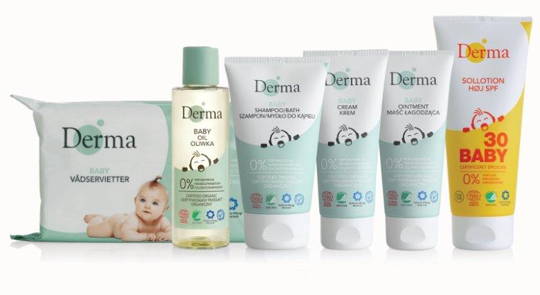 Duńskie kosmetyki Derma Eco Baby można stosować od 1. dni życia dziecka, również przy atopowym zapaleniu skóry (AZS) i skłonności do alergii. W ich skład wchodzą wyłącznie naturalne składniki: odżywcze olejki i aloes. Wszystkie składniki są hipoalergiczne