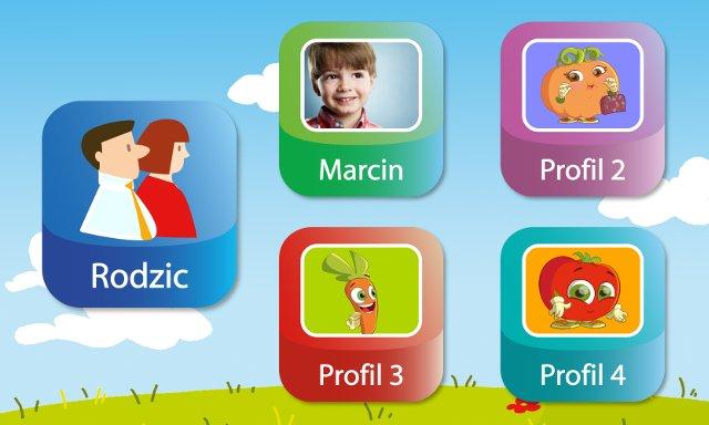 Tablet pozwala na korzystanie ze spersonalizowanych profili kilku osobom.