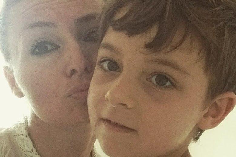 Pani Katarzyna z synem Karolem