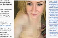 Fot. screen z Facebooka Rosie Waterland za: [url=http://www.abc.net.au/news/2016-01-21/rosie-waterland-naked-selfie-facebook-post-beauty-standards/7104742]abc.net.au[/url]