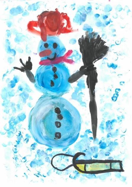 Jeden z obrazków nadesłanych na wystawę prac dzieci, które urodziły się jako wcześniaki.