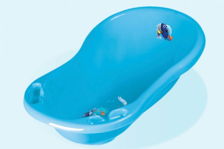 """Idealna wanienka dla dziecka ma opływowe kształty, wyprofilowane miejsce na mydełko, a jej obrazki umieszczone są wewnątrz. Na zdjęciu """"maria"""", wanienka z korkiem z katalogu firmy keeeper."""