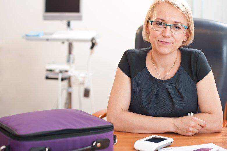Patrycja Wizińska-Socha, prezes firmy Nestmedic, która opracowała urządzenie