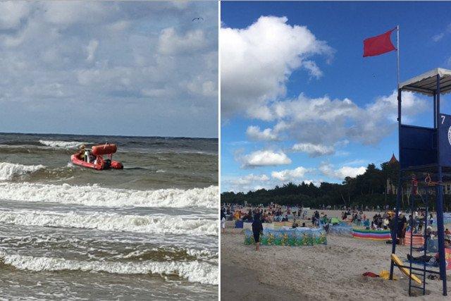 Wciąż trwają poszukiwania dziewczynek, którym rodzice pozwolili na kąpiel w morzu, mimo zakazu ze strony WOPRu.