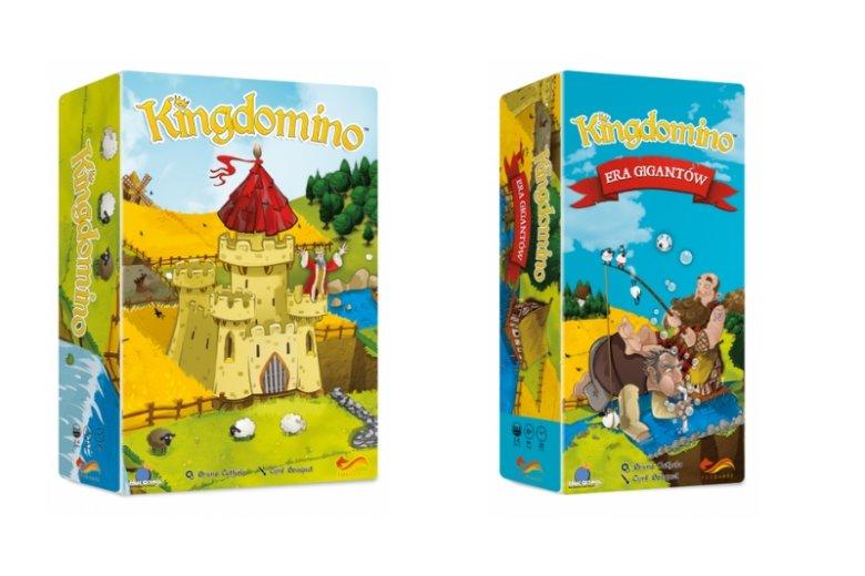 """Grę Kingdomino można rozszerzyć o dodatek """"Era Gigantów"""", który wprowadza do rozgrywki mityczne postacie przeszkadzające graczom w rozwijaniu planszowych królestw"""