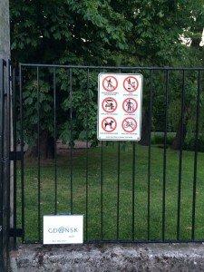 Wejście do Parku. Sprawdź czego nie wolno robić…