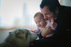 Pies i niemowlę  - relacje i wzajemne oddziaływanie.