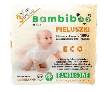 Pieluszki bambusowe Bambiboo w promocyjnej cenie.