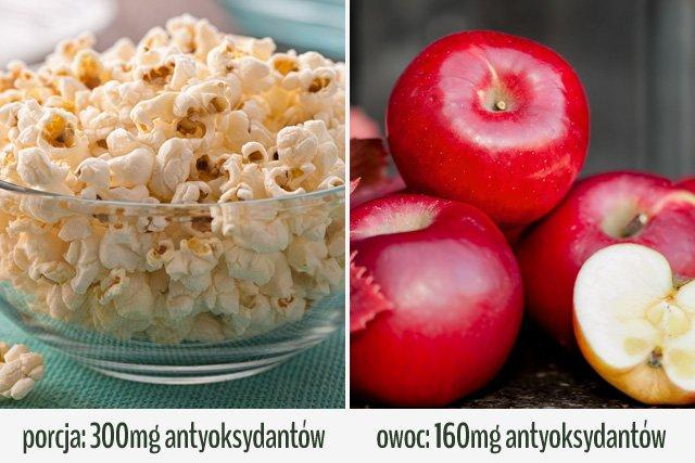 Popcorn jest zdrową przekąską.