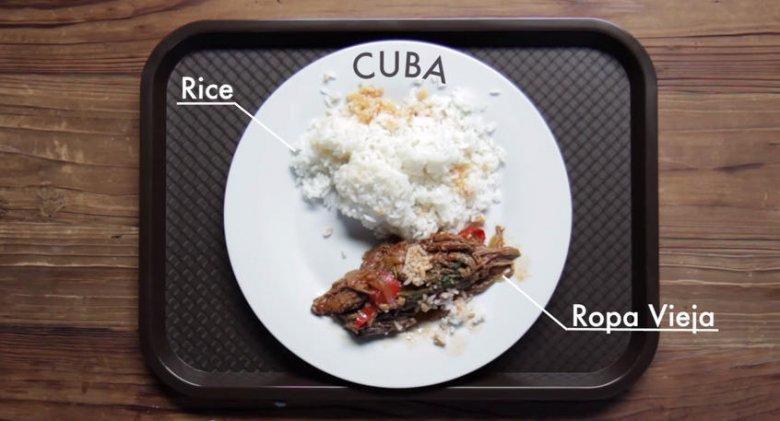 Zestaw obiadowy dla dzieci na Kubie