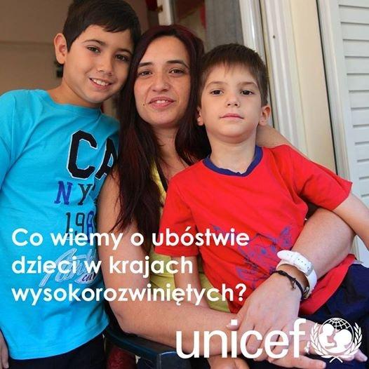 UNICEF zwraca ostatnio uwagę na ubóstwo dzieci mieszkających w krajach wysokorozwiniętych.